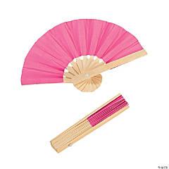 Mini Hot Pink Bamboo Folding Hand Fans