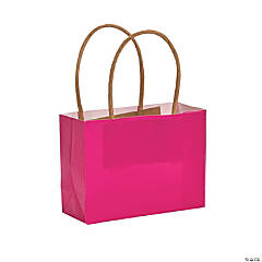 Mini Hot Pink Kraft Paper Gift Bags