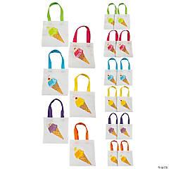Mini Ice Cream Tote Bags