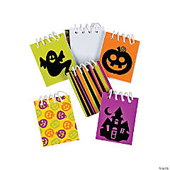 Mini Iconic Halloween Spiral Notepads Clip Strip
