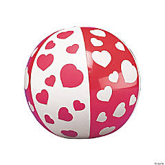 Mini Inflatable Heart Beach Balls