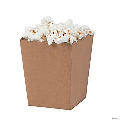Mini Kraft Popcorn Boxes