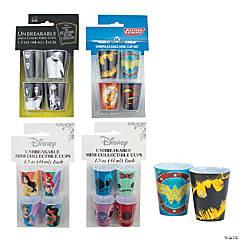 Mini Licensed Plastic Cup Assortment