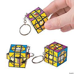 Mini Magic Cube Puzzle Keychains