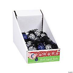 Mini Mesh-Covered Winter Squeeze Balls PDQ
