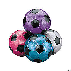 Mini Metallic Soccer Balls PDQ
