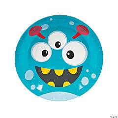Mini Monster Paper Dinner Plates - 8 Ct.