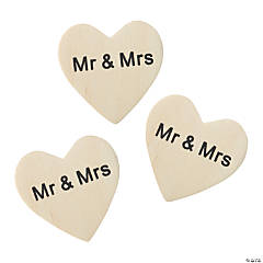 Mini Mr. & Mrs. Wooden Hearts