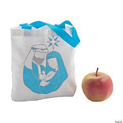 Mini Nativity Canvas Tote Bags