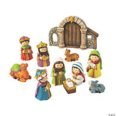 Mini Nativity Set Figures