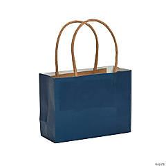 Mini Navy Blue Kraft Paper Gift Bags