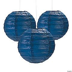 Mini Navy Paper Lanterns