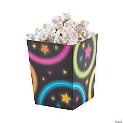 Mini Neon Glow Party Popcorn Boxes