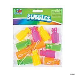 Mini Neon Hexagon Bubble Bottles