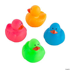 Mini Neon Rubber Duckies
