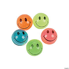 Mini Neon Smile Face Bouncing Balls