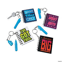 Mini Notebooks with Key Ring and Pens