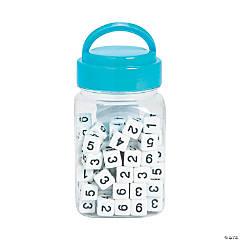 Mini Number Dice in Jar
