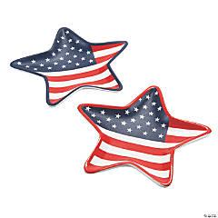 Mini Patriotic Star Ceramic Plates