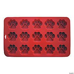 """Mini Paw Silicone Cake Pan-12.5""""X7.5"""" 15 Cavity (2""""X2"""")"""