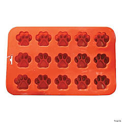 "Mini Paw Silicone Cake Pan-9""X5.5"" 15 Cavity (1.5""X.5"")"