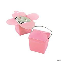 Mini Pink Takeout Boxes