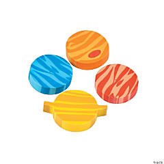 Mini Planet Erasers - 12 Pc.