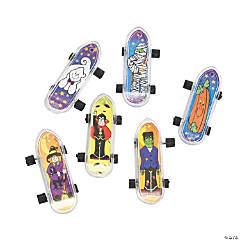 Mini Plastic Halloween Skateboards
