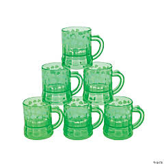 Mini Plastic Shamrock Mugs