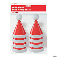 Mini Pom-Pom Santa Christmas Party Hats