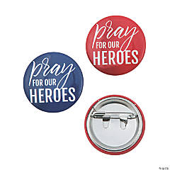Mini Pray for Our Heroes Buttons