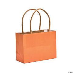 Mini Pumpkin Orange Kraft Paper Gift Bags