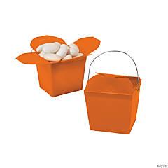 Mini Pumpkin Orange Takeout Boxes