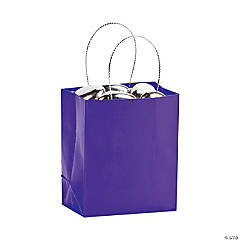 Mini Purple Gift Bags