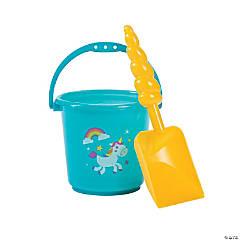 Mini Rainbow Unicorn Buckets with Horn Shovels