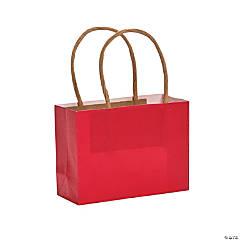 Mini Red Kraft Paper Gift Bags