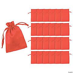 Mini Red Satin Drawstring Bags