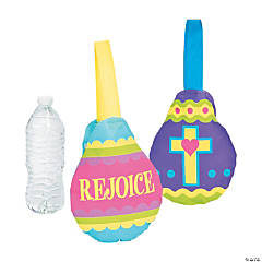 Mini Religious Egg-Shaped Tote Bags