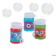 Mini Robot Party Bubble Bottles