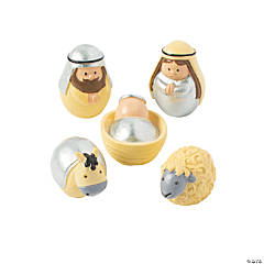 Mini Round Nativity Set