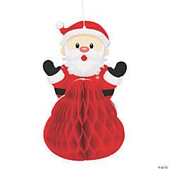 Mini Santa Honeycomb Hanging Decorations