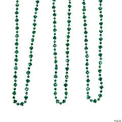 Mini Shamrock & Disco Ball Bead Necklaces