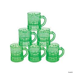 Mini Shamrock Plastic Mugs