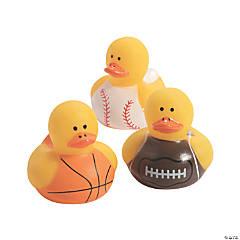 Mini Sports Rubber Duckies Assortment