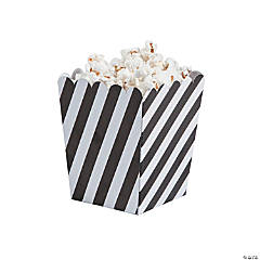 Mini Striped Black & White Popcorn Boxes