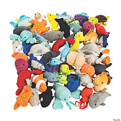 Mini Stuffed Animal Sea Life Assortment