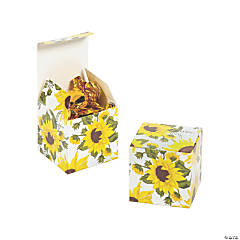 Mini Sunflower Favor Boxes