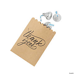 Mini Thank You Kraft Paper Bags