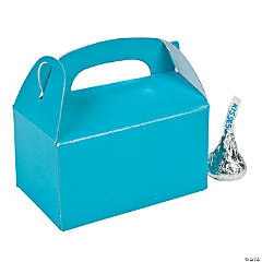 Mini Turquoise Treat Boxes