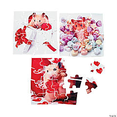 Mini Valentine Animal Puzzles